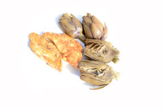 Chicken breast with artichokes Stock Photography