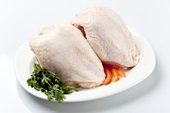 Chicken Breast without Back Royalty Free Stock Photography