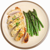 Chicken Breast Baked with Lemon & Parmesan Cheese Stock Photos