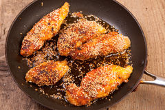 Chicken breast with breadcrumbs Royalty Free Stock Photo