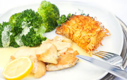 Chicken breast with broccoli Royalty Free Stock Photography