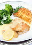 Chicken breast with broccoli Stock Photography
