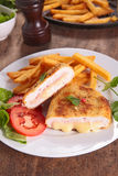 Chicken breast with cheese Royalty Free Stock Photography