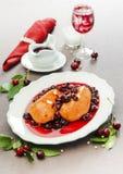 Chicken breast in cherry sauce. Baked chicken breast in cherry sauce Stock Images