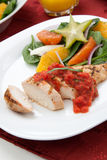 Chicken Breast with Citrus Salad. Stock Image