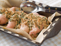 Chicken breast with crumble Royalty Free Stock Images