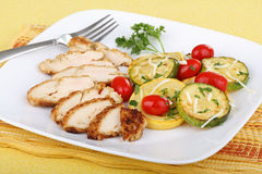 Chicken Breast Dinner Stock Photography