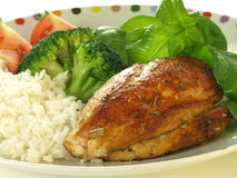 Chicken breast dinner. Stock Images