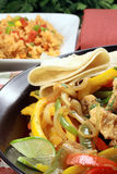 Chicken breast fajitas royalty free stock images