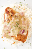 Chicken Breast Fillet with Lemon Thyme Sauce Royalty Free Stock Photos