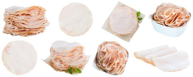 Chicken Breast Fillet (selective focus) isolated on white Stock Photos
