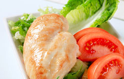 Chicken breast fillet with vegetables Stock Image