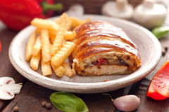 Chicken breast in a French pastry. Stock Photography