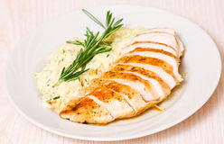 Chicken breast with garnish Royalty Free Stock Photo