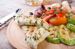 Chicken breast with grilled vegetables Stock Image