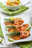 Chicken breast with herbs Royalty Free Stock Photography