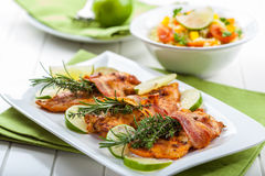 Chicken breast with herbs Royalty Free Stock Image