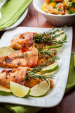 Chicken breast with herbs Stock Photography