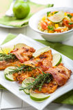 Chicken breast with herbs Stock Photos