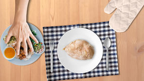 Chicken breast for high protein. Stock Photos