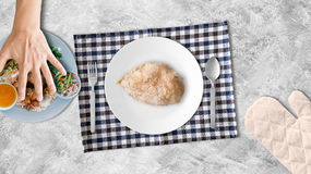 Chicken breast for high protein. Royalty Free Stock Photography