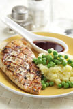 Chicken breast with mashed potato Royalty Free Stock Photo