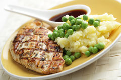 Chicken breast with mashed potato Royalty Free Stock Image