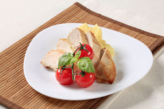 Chicken breast and mashed potato Royalty Free Stock Photography