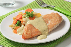 Chicken breast and mixed vegetables Royalty Free Stock Photos