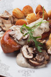 Chicken breast in mushroom sauce Royalty Free Stock Photo
