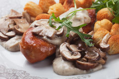 Chicken breast in mushroom sauce Royalty Free Stock Photography