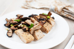 Chicken breast with mushrooms Royalty Free Stock Photos