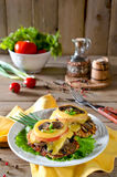 Chicken breast with mushrooms and cheese Royalty Free Stock Image