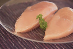 Chicken breast on a plate Stock Image