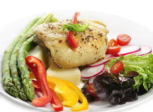 Chicken Breast With Potatoes And Vegetables Royalty Free Stock Image