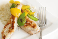 Chicken breast with rice Stock Photo