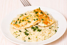 Chicken Breast with Rice Royalty Free Stock Photo