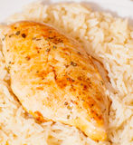 Chicken Breast with Rice Royalty Free Stock Images