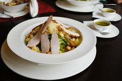 Chicken breast salad royalty free stock photos