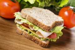 Chicken breast sandwich Royalty Free Stock Photography