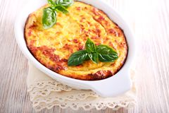 Chicken breast souffle in a tin Royalty Free Stock Photo