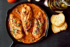 Chicken breast with tomato sauce Stock Image