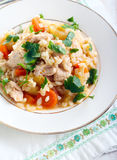 Chicken breast and vegetable casserole Stock Photo