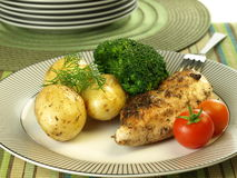 Chicken breast with vegetables Royalty Free Stock Image