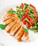 Chicken breast with vegetables Stock Image