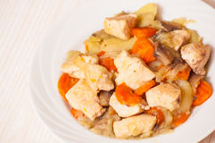 Chicken breast with vegetables Stock Images