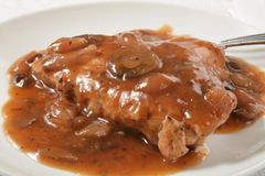 Chicken breast in wine sauce Royalty Free Stock Photos
