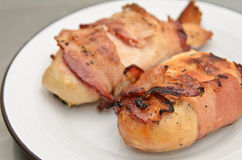 Chicken Breast Wrapped in Bacon Stock Image