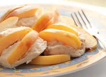 Chicken breasts baked with quince Stock Photography