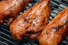 Chicken Breasts on the Grill Stock Photo